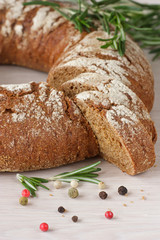 Tasty Finnish rye bread for picnic