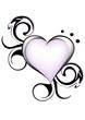 cuore stilizzato tatoo