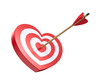 Heart shaped target with arrow
