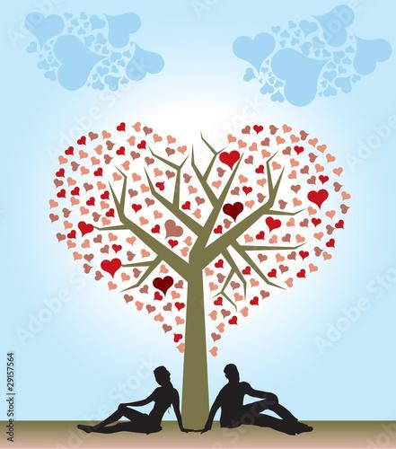 amore cuore. Albero cuore amore persone
