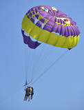 Parasailing in summer poster