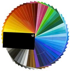Spectrum wheel scale cutout
