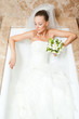 bride in bath