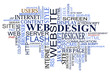 Design and web tags cloud