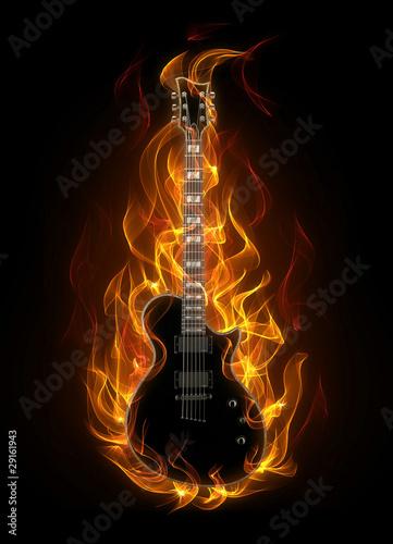 e-gitarre-in-feuer-und-flammen