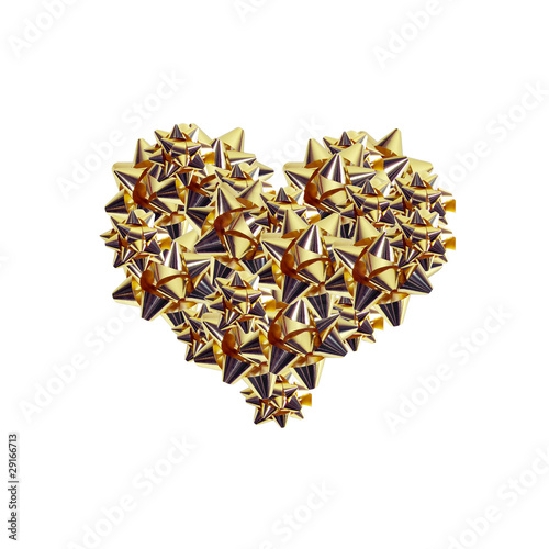 Golden Cockades Heart