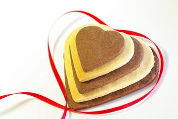 バレンタインのハートクッキー