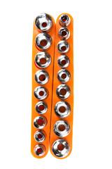 torx socket set isolated on white