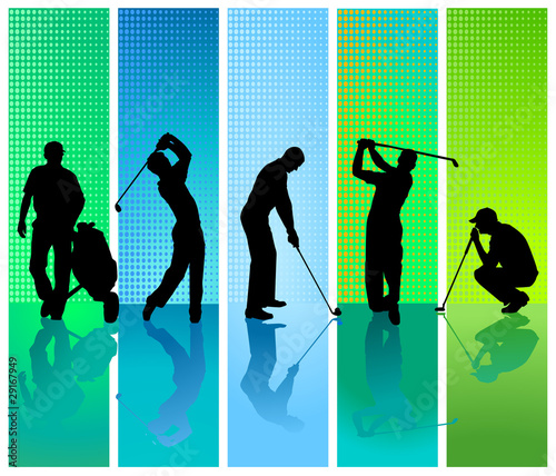 5 Golfspieler