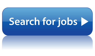 """SEARCH FOR JOBS"" Web Button (vacancies job offers careers blue)"