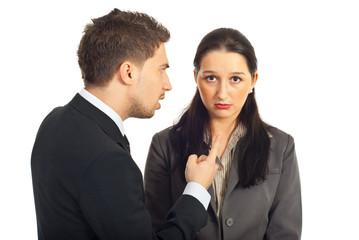 Boss argue employer woman