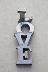 fototapeta przesłanie miłości litery