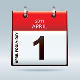 April fools day calendar poster