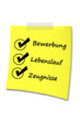 Post-It Bewerbung