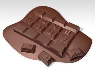 romantic 3d meltting hard chocolate