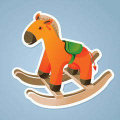 toy horse sticker