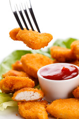 Fried chicken nuggets