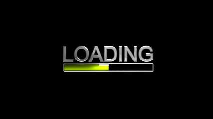 Preloader on black (HD, 30fps, 3d)