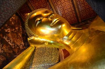 Reclining Buddha , Bangkok Thailand