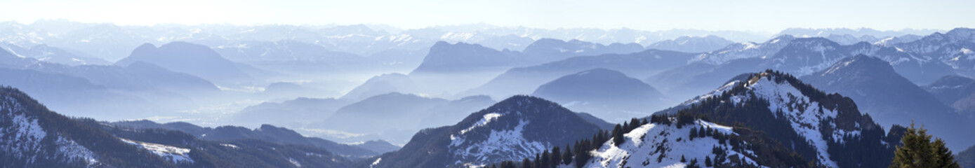 alpenpanorama vom inntal