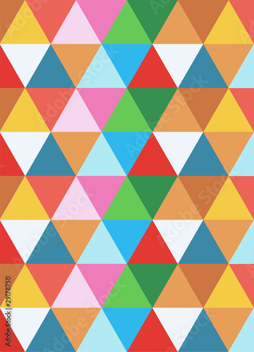 Deurstickers ZigZag geometric colorful background
