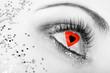 Auge mit Herz