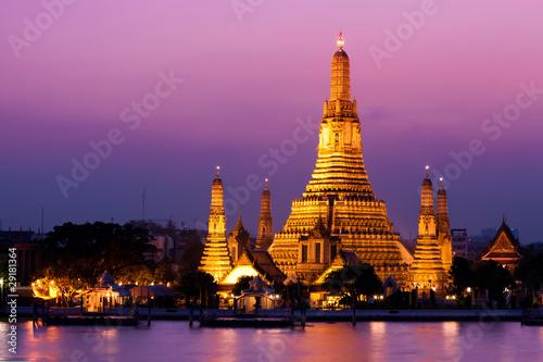 Leinwandbild Motiv Wat Arun (Temple de l'Aube), Bangkok, Thaïlande