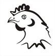 chicken icon in simple black lines