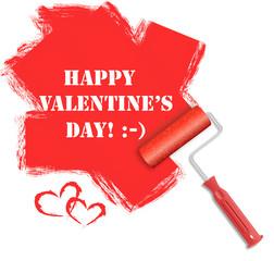 Paint roller Valentine