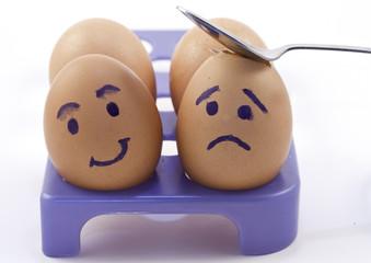 closeup photo of eggs in a box
