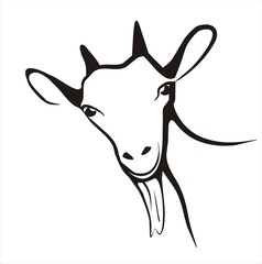 goat icon in simple black lines