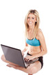 Female sports bra laptop