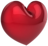 Red heart shape symbol. Love will save the world!
