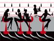 club bar restaurant coffee women Illustration vector