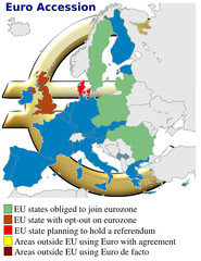 Euro europe accession currency money monetary economy