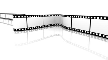 White 3d blank film