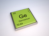 Germanium chemical element of the periodic table with symbol Ge poster