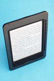 Ebook on a blue background poster