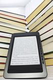 Ebook reader on a light background poster