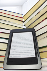 Ebook reader on a light background