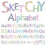 Sketchy alphabet poster