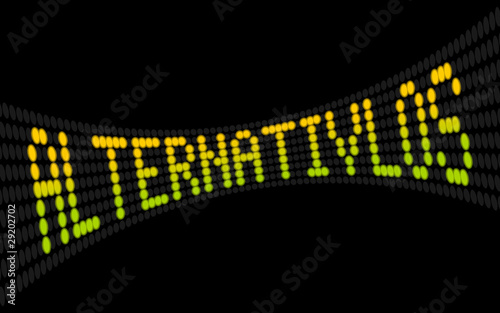 led lauftext alternativlos I