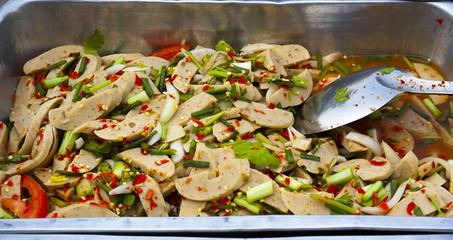 Thai Food; Yam Moo Yor
