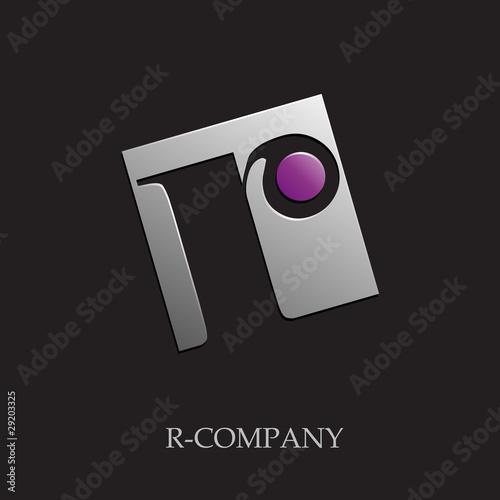 letter r wallpaper. Logo initial letter R on black