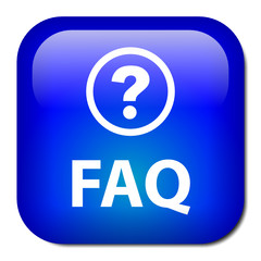 """""""FAQ"""" Web Button (faqs questions answers help assistance online)"""