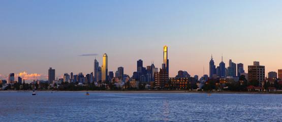 Melbourne Skyline View
