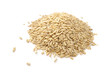 Pile of Whole Oats Isolated on White Background