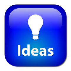 """IDEAS"" Button (creativity innovation eureka projects vision)"