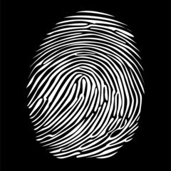 fingerprint in negative detailed illustration