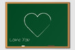 Heart Chalkboard Illustration